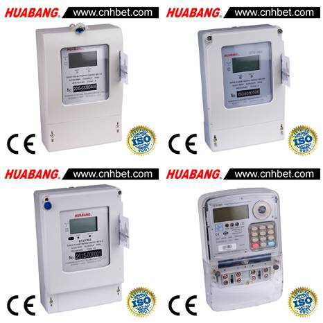 Three Phase Electronic Prepaid KiloWatt-Hour Meter