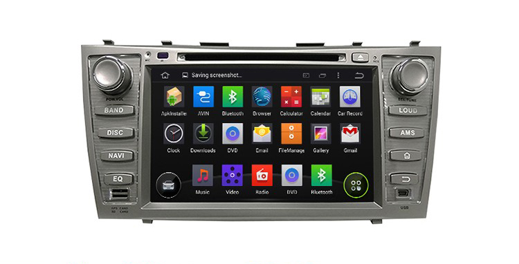 Car GPS DVD player for Camry 2006-2011, android system 8 inch BT navigation 1+16GB