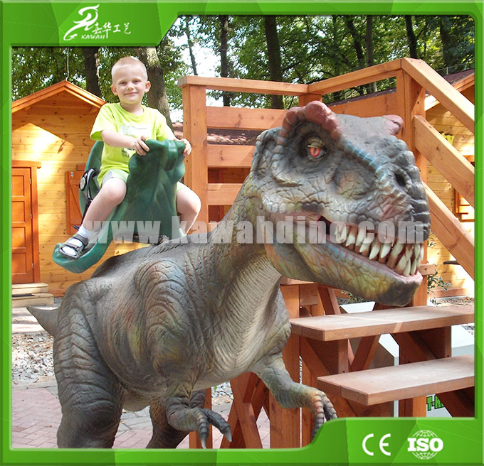 High quality Animatronic Walking Dinosaur for Kiddie Rides