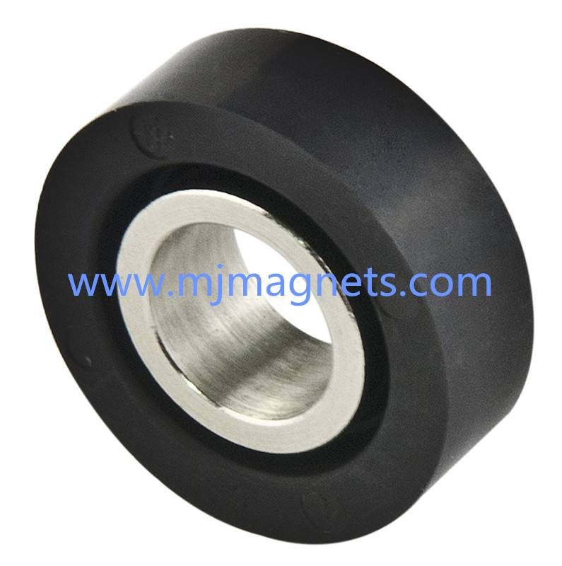 plastic injection molded ferrite sensor magnet for automotive