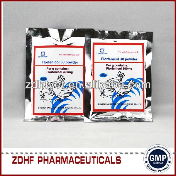 veterinary antibiotic drugs florfenicol soluble powder for chickens cattles