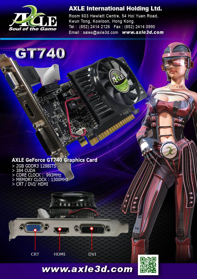 AX-GT740/2GD3P8CDIL Graphics card/