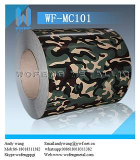 Hot dipped camouflage pattern printing ppgi sheet