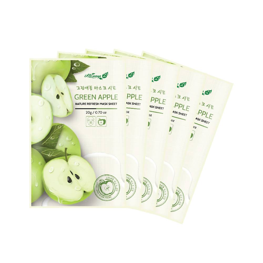 Always21 Nature Refresh Green Apple Mask Pack