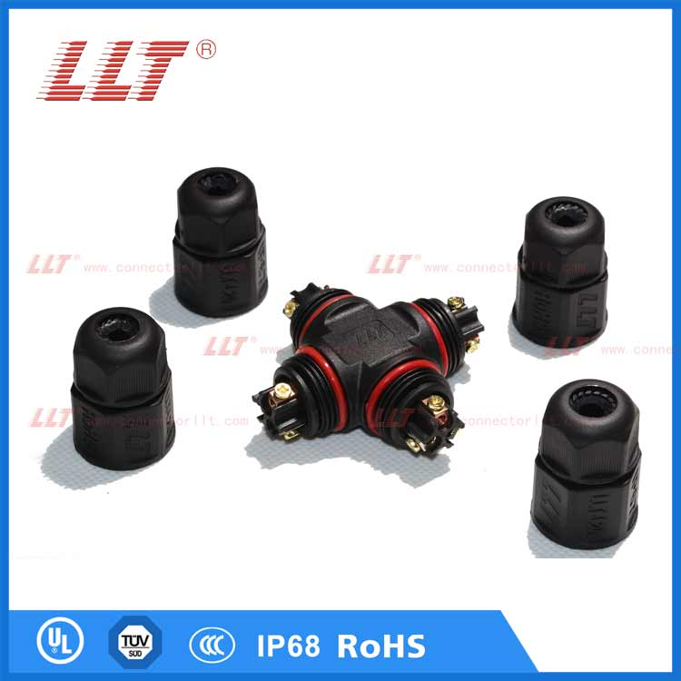 LLT L20 3pin X-type electric waterproof connector