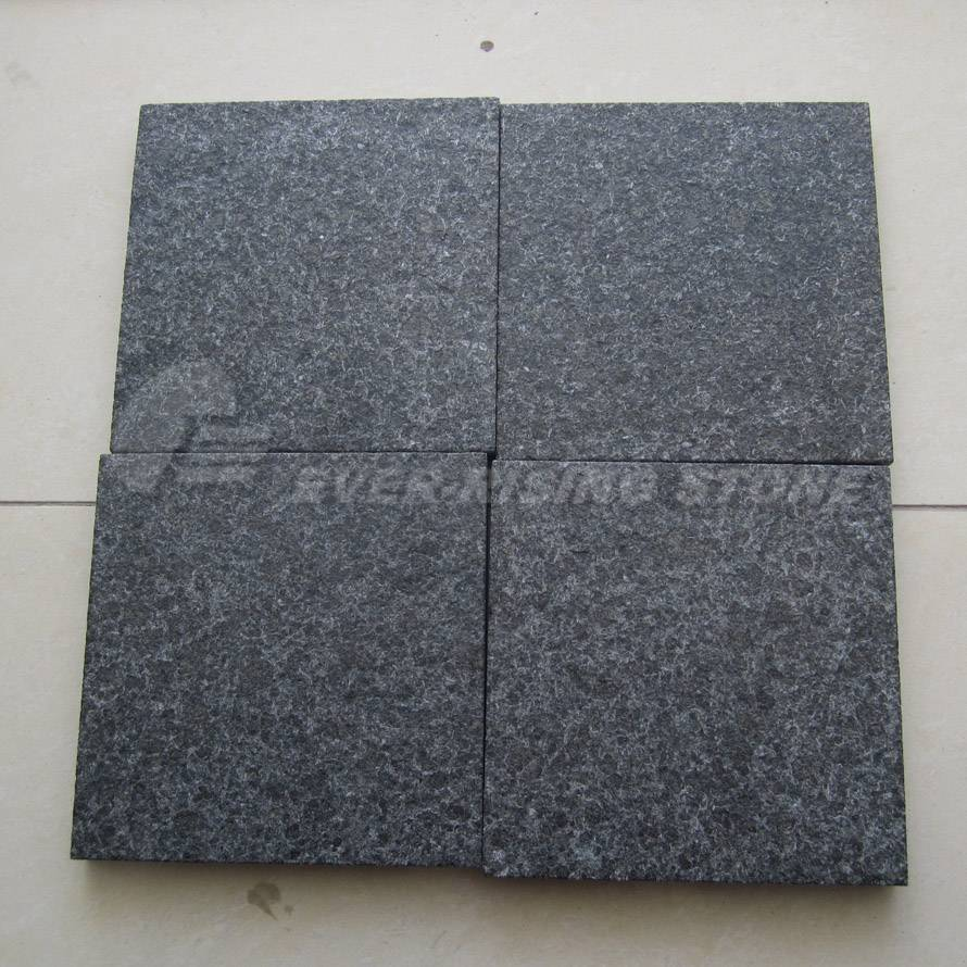 Black Granite Pavers and Wall Cladding Waterjet