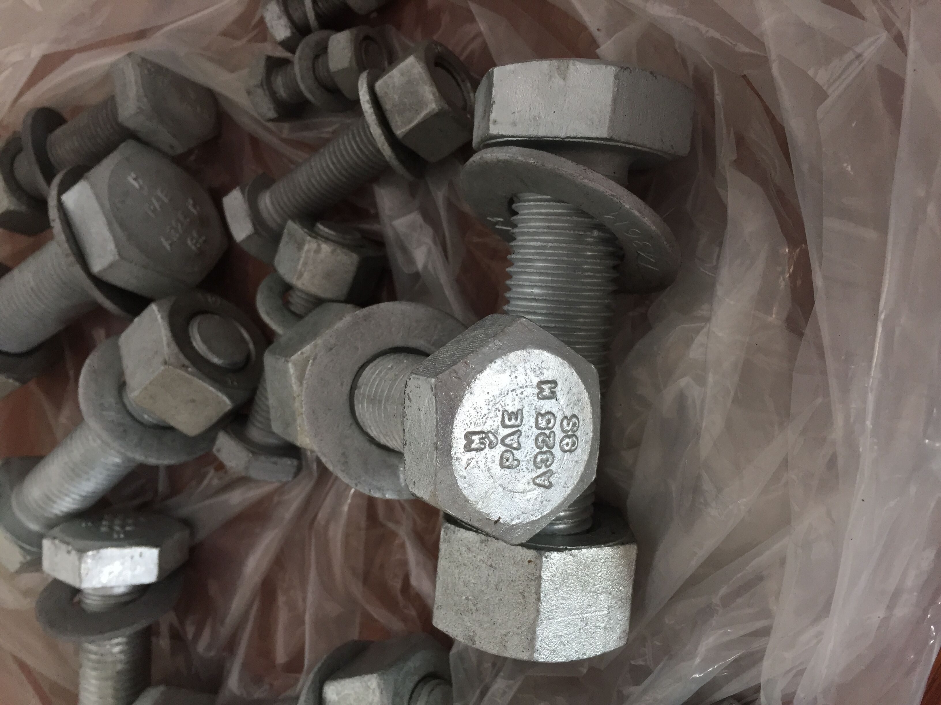 A325 HEXVY HEX BOLTS HDG