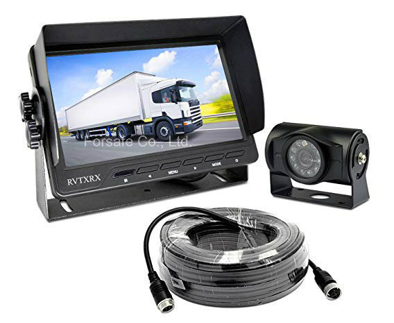 """Wired Backup Camera System with 7"""" Monitor for Truck, Trailer, RV, Motorhome"""