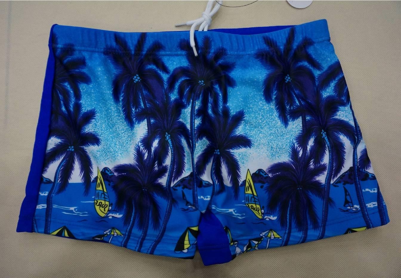 Digital Print patterned children swim trunk