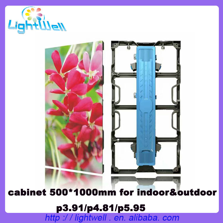 lightwell high refresh P3.91 light weight rental Aluminum 500mmx1000mm led display Video Panels