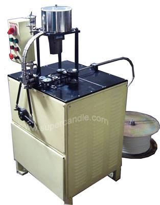 wick tabbing machine, wick cutting and assembling machine, wick crimping machine
