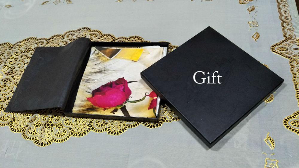 Custom silk scarves with personalized logo