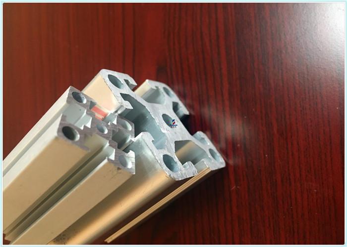 Silver white Sandblasting Structural Aluminum Profiles for oil pipelines