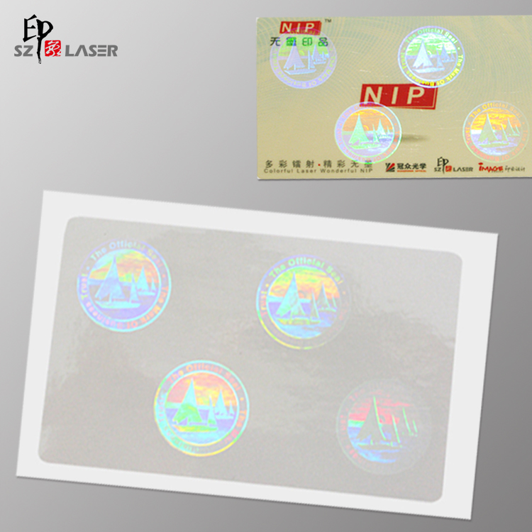 Cold Laminate Blank Transparent Clear Hologram Sticker with Custom Logo Size as 8452mm