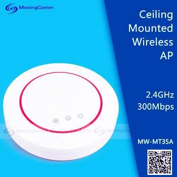 IEEE 802.3af POE Ceiling Wifi AP Model MW-MT35A MT7620A, 802.11n 2.4GHz 300M