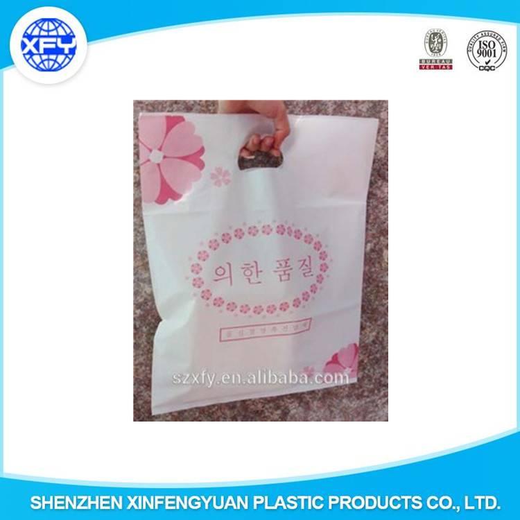 HDPE/LDPE Die Cut Handle Shopping Plastic Packing Bag