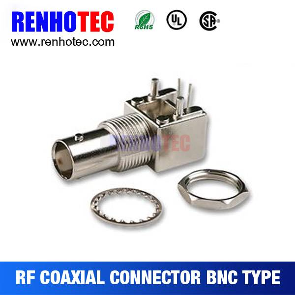 R/A BNC Jack Bulkhead PCB Mount RF Electrical Magnetic BNC Connectors