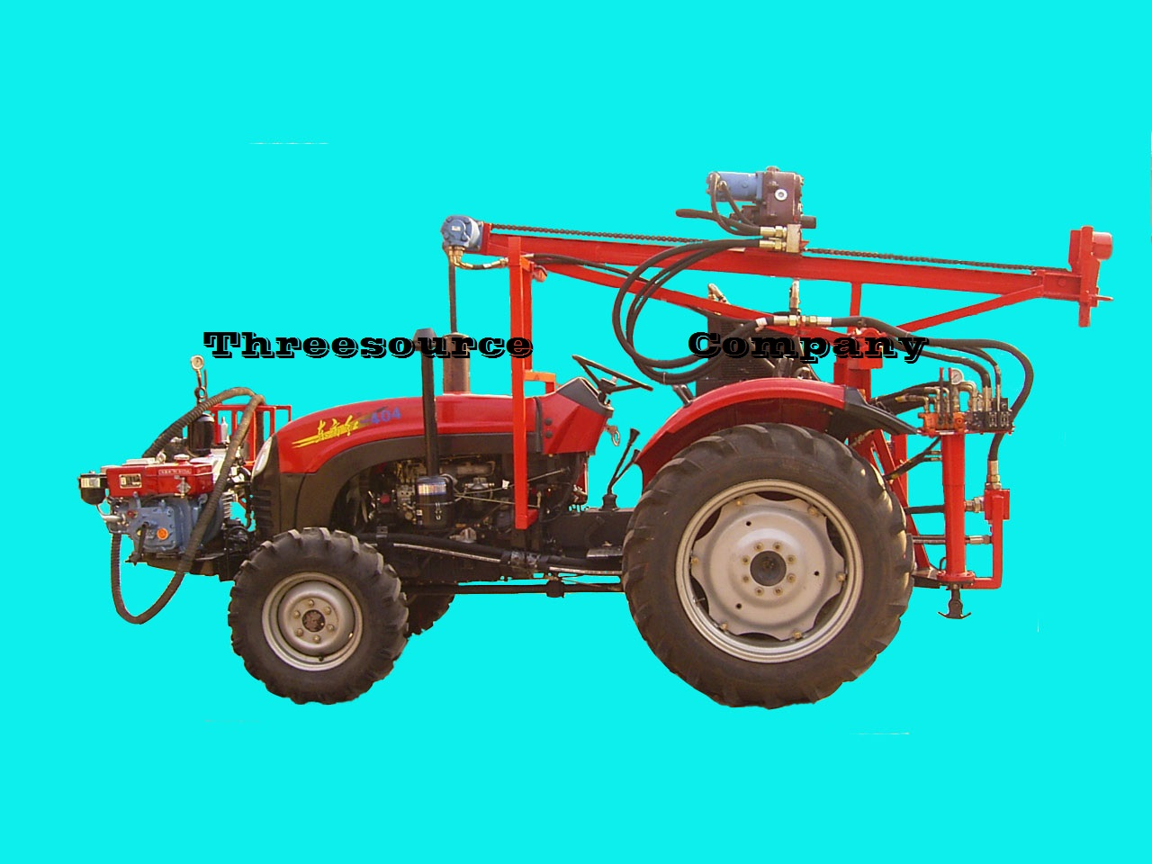 tractor oil blasting driling rig