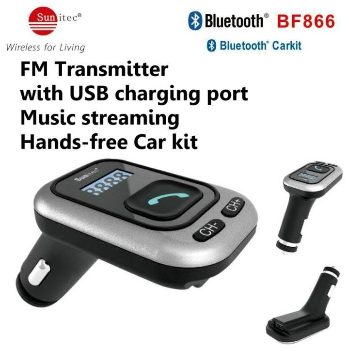 Bluetooth Kits for Every Car Stereo with FM transmitter and USB Charging port