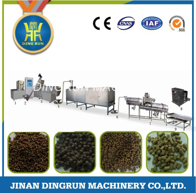 floating fish food processing machine