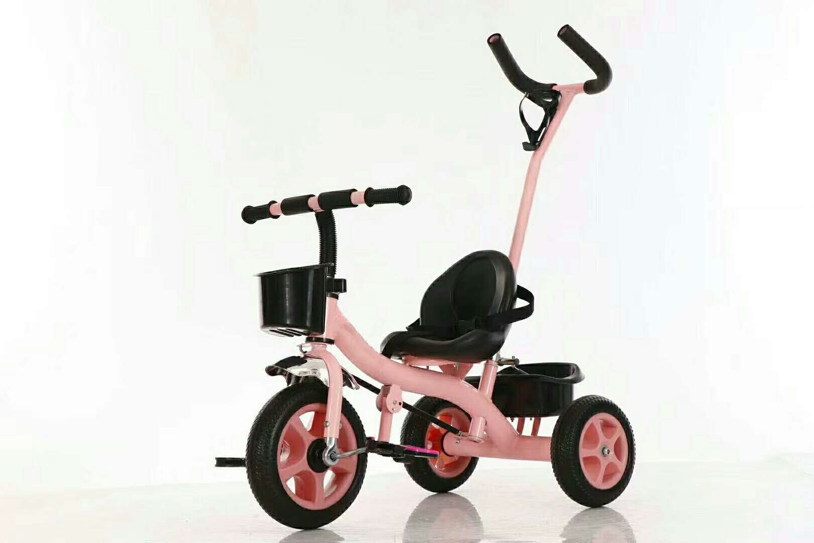 hot sale plastic material children trike with handle pedal kids tricycle