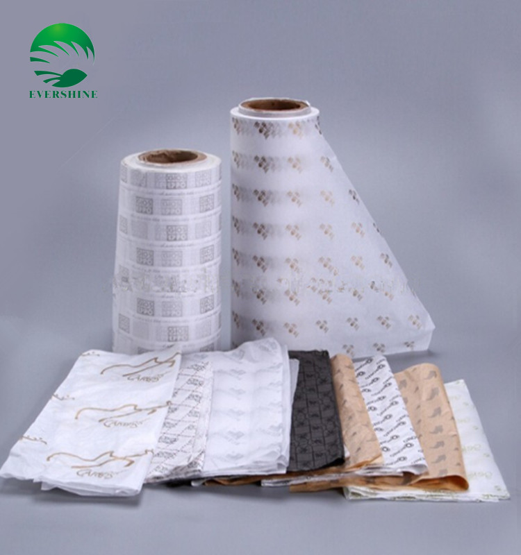 cheap food grade printed wrapping tissue paper