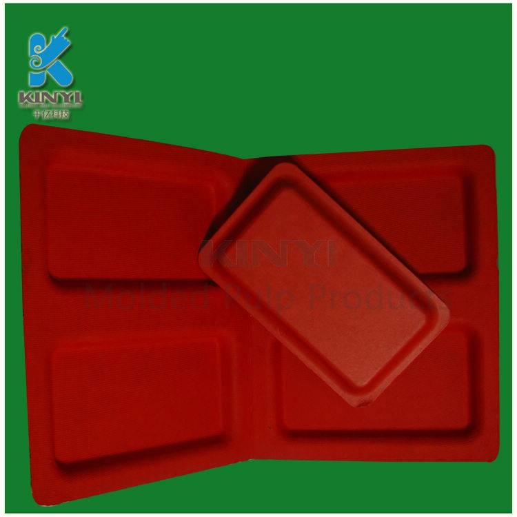 Colored bagasse pulp mold packaging tray cosmetic use