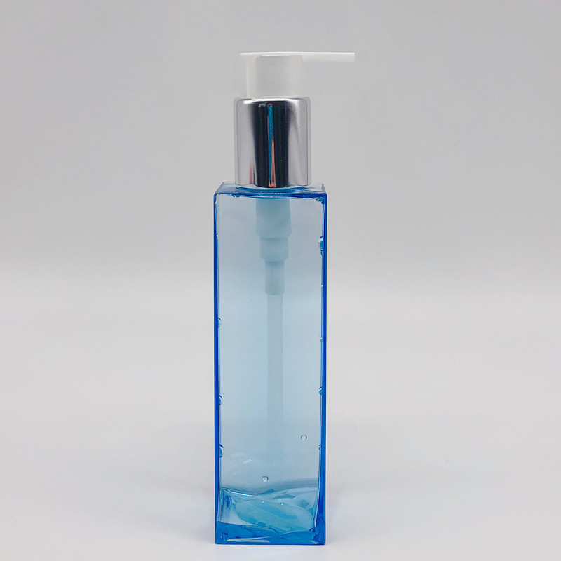 Blue Square Empty Cosmetic Lotion Bottles Wholesale