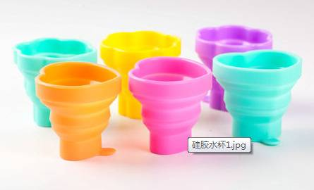 Promotion Gifts Silicone Mug Collapsible Silicone Cup Silicone Rubber Drinking Cup Foldable Cup for