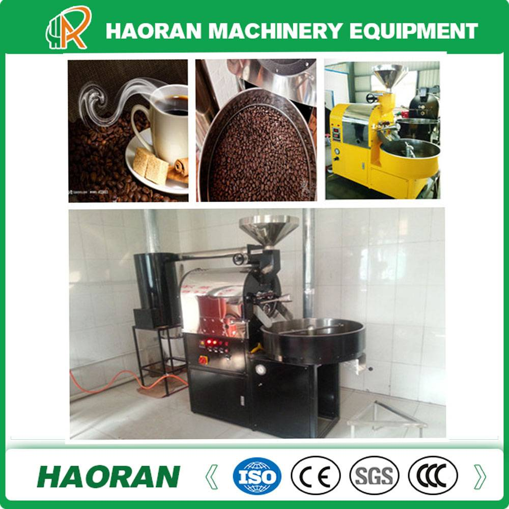 Small Capacity 1kg /Batch Coffee Roaster with Gas Heating