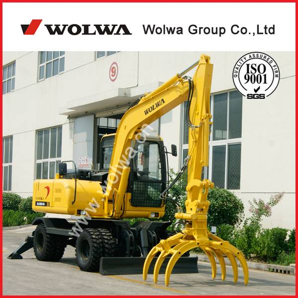 DLS880-9AG wheel sugarcane loader excavator with grapple