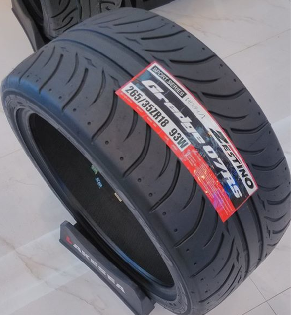 Zestino motorsport racing tyre semi slick drift tire 265/35R18