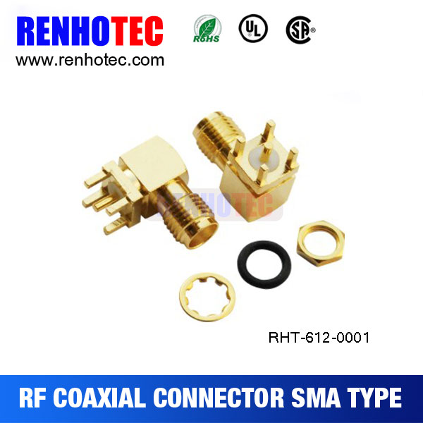 RF coaxial SMA male/female connector