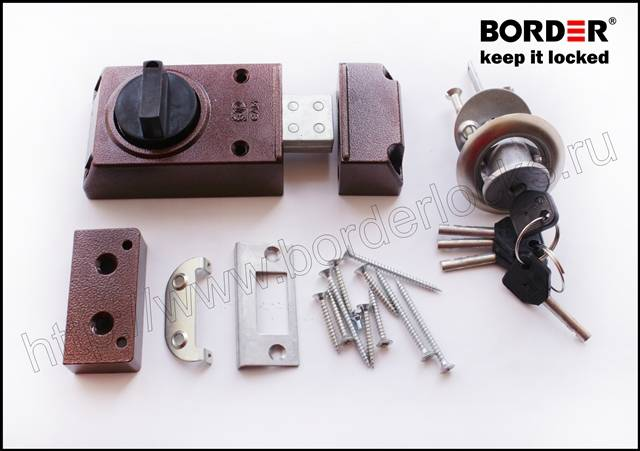 Rim lock with disc locking mechanism