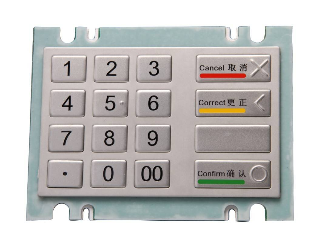 Metal Numeric Keypad with 16 Flush Keys