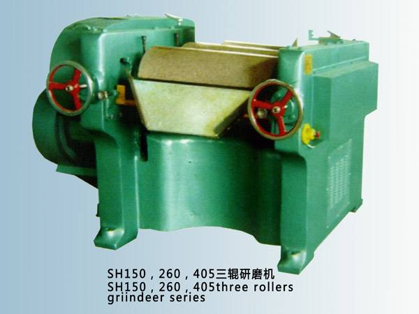 granite rollers triple roll mill machine for paint