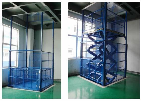 stationary cargo scissor lift