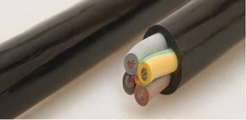 Oil resistant PVC flex control cables