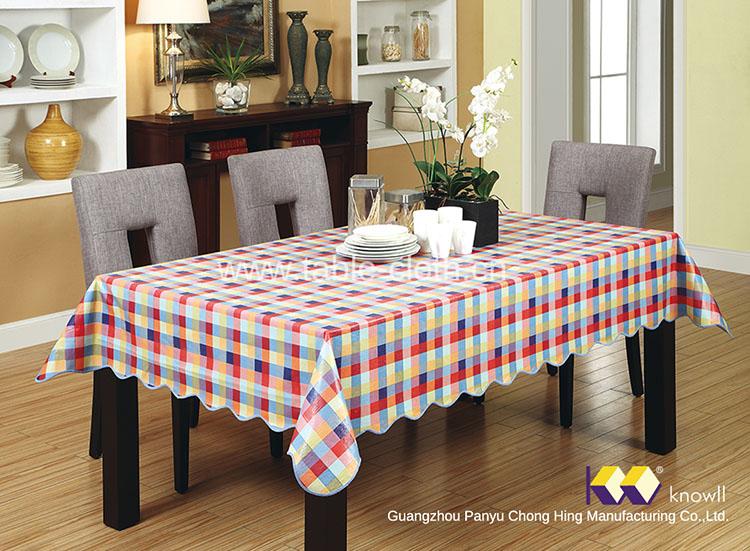 Chong Hing pvc plaid tablecloths Cheap