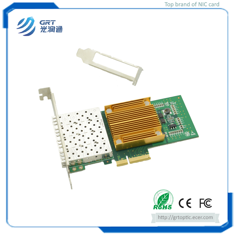 F904E 1Gb Gigabit 4-port PCIe Open SFP Intel I350 Network Adapter Card for Servers and Switches