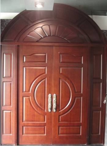 Double Front Doors with Arch