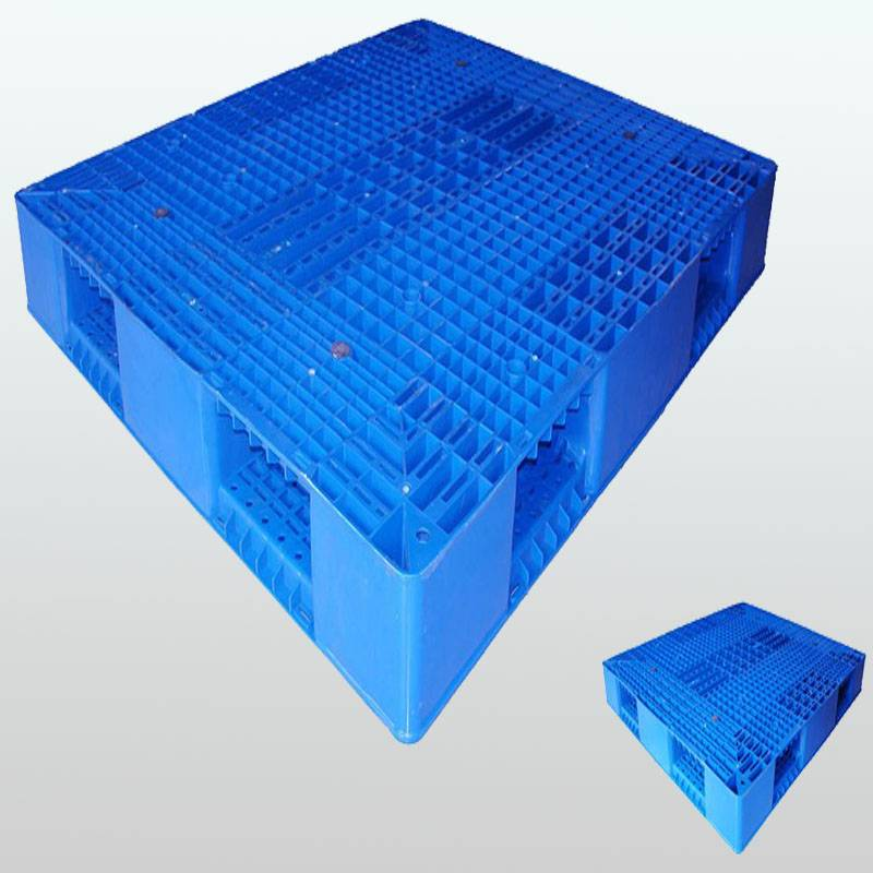 plastic pallet with double-faced.Grid.Stackable.1300*1100*150