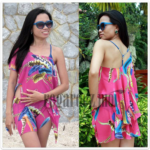 Short Wrap Skirt Beachwear Cover-Up