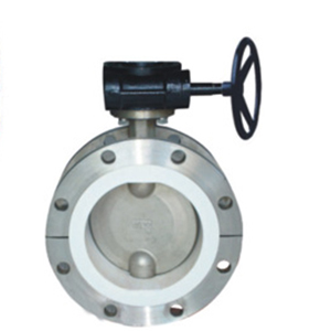 PTFE Full lined flanged butterfly valve D341F