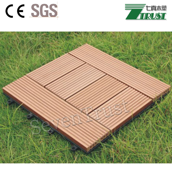 Competitive price for easy install recycable DIY tile wood plastic composite outdoor decking