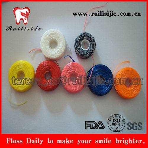 Dental Floss Spool Bobbin with Customized Dimension Plastic Bobbin, Dental Refill Coil