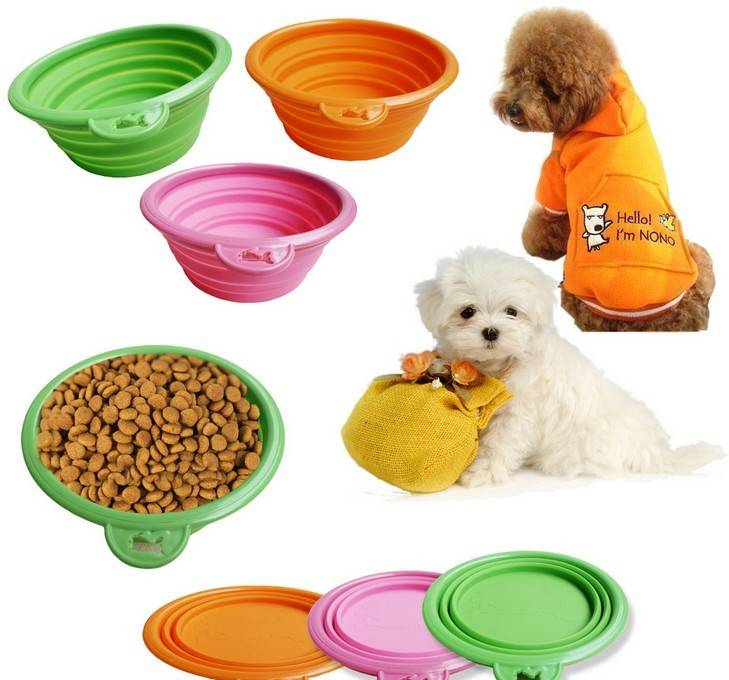 Customer design collapsible silicone pet travel bowls