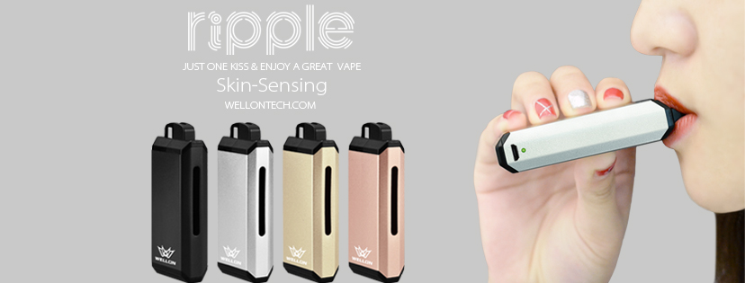 Wellon Ripple Pod Vape Kit Featuring Skin Sensing Technology