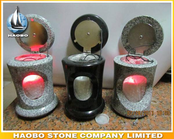 Granite Cemetery Lantern Wholesale LED Light Lamp