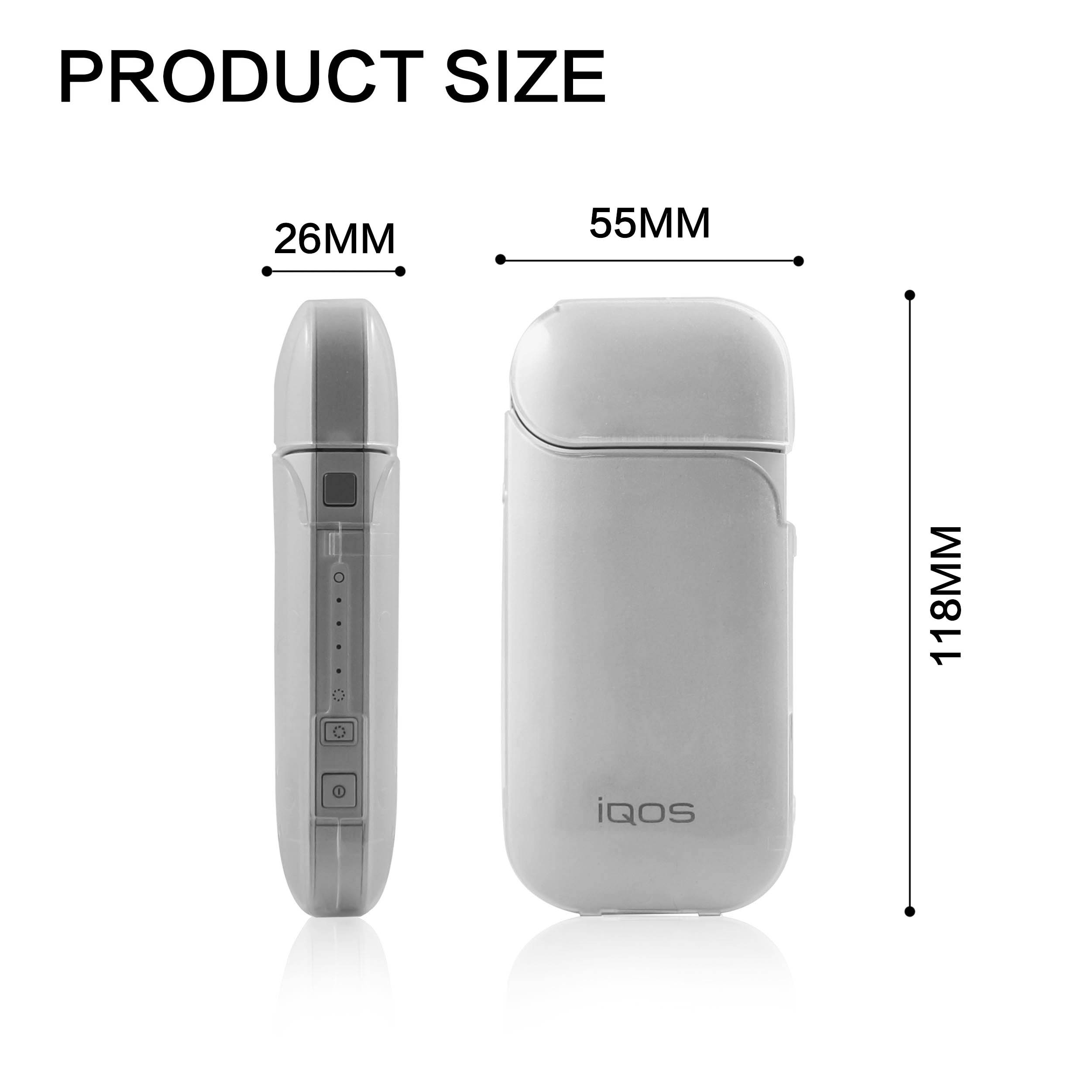 Silicone Anti Scratch IQOS Cover Lucency Waterproof Electronic Cigarette Case